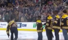 Gronk Spikes Puck at Bruins Game (Video)