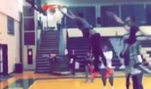 Junior College Player Throws Down Monster Dunk During Practice (Video)