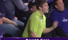Kansas State Usher Gets a Little Jiggy with It on the Dance Cam (Video)