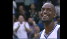 Kevin Garnett Cracks Up Upon Seeing Shirtless Dancing T-Wolves Fans (Video)