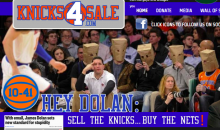 Knicks4sale.com Reminds Us That James Dolan Isn't Doing a Good Job