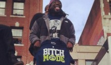 "LeGarrette Blount Holds Up ""Bitch Mode"" T-Shirts During Parade (Pic)"
