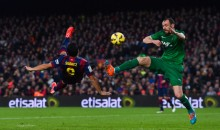 Barcelona's Luis Suarez Scores Beautiful Bicycle Kick Goal (Video)