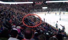 Oilers Fan Throws Beer at Jersey Tosser, Hilarity Ensues (Video)