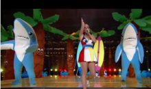 One Shark in the Katy Perry Super Bowl Halftime Show Was Slackin' (Video)