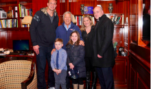 Rob Gronkowski and Robert Kraft Visit a Cancer Patient in NYC