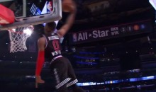 Russell Westbrook Hits Head on Backboard During All-Star Game (Video)