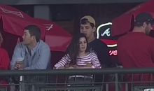 Baseball Fan Fondles His Woman Instead Of Watching The Baseball Game (Video)
