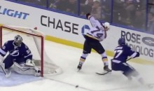 TJ Oshie Dishes Sweet No-Look Through-The-Legs Assist on Backes Goal (Video)