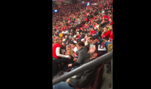This Canadiens Fan Quietly Pukes on Himself in the Stands. YAY! (Video)