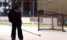 This Hockey Trick Shot Looks Like Ballet and Martial Arts All at Once (Video)