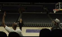 Vanessa Bryant, Kobe's Wife, Hits Backwards Shot at Staples at 4 AM (Video)