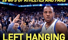29 GIFs of Athletes and Fans Left Hanging