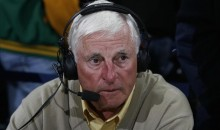 Here's Crotchety Old Man Bobby Knight Yelling at SMU Fans to Sit Their Butts Down (Video)