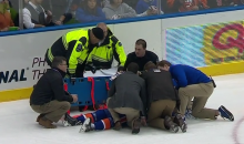 Mikhail Grabovski Knocked Out Cold by Big Hit from Eric Nystrom (Video)