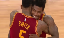 Iman Shumpert and J.R. Smith Team Up for Showtime Dunk in their Return to Madison Square Garden (Video)