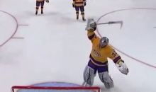 Note to Hockey Sticks: If You Make Jonathan Quick Angry, He Will Break You (Video)