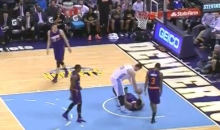 Jusuf Nurkic Technical: Nuggets Rookie Gets T'd Up for Taunting Markieff Morris Like a Boss (Videos)