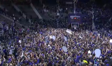 Kansas State Fans Storm the Court After Wildcats Upset No. 8 Jayhawks (Videos)