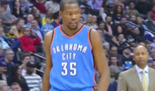 "Kevin Durant on His Scorching Hot 24-Point First Half: ""I'm a Bad Motherf*cker"" (Video)"