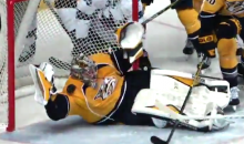 Ridiculous Sequence of Pekka Rinne Saves Suggests Pekka Rinne Is Pretty Good at Being a Hockey Goalie (Video)