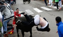 Running of the Bulls Leads to Goring of the Anus for Unlucky American College Kid (Pics)