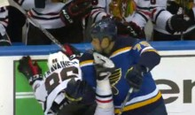 Instant Karma: Ryan Reaves Takes Skate to the Face After Tripping Teuvo Teravainen (Video)