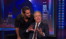 "Seth Rollins Crashes ""Daily Show,"" Invites Jon Stewart to Fight on ""Monday Night Raw"" (Video)"