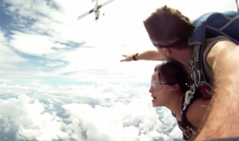 A Couple of Skydivers Almost Collide with Airplane. No Big Deal. (Video)