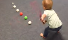 Adorable Slapshot Baby Is Way Better at Hockey Than You (Video)