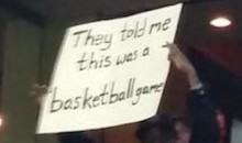 "Capitals Fan Sign Reads ""They Told Me This Was a Basketball Game"" (Pic)"