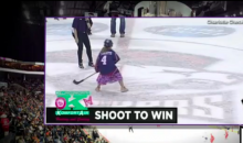 9 Year-Old Girl Nails Center Ice Shot at an AHL Game (Video)