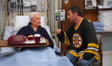 Adam Sandler and Bob Barker Re-enact their 'Happy Gilmore' Fight (Video)