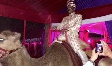 Adrian Peterson Birthday Party Includes Camel, Jamie Foxx