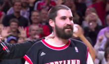 Blazers Fan with a Tremendous Beard Hits Half-Court Shot, Wins a Car (Video)