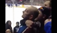 Here's a Crazy Avs-Wild Fan Brawl Involving Dudes and Chicks (Video)