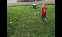 Dad Taken Out by a Line Drive from His Son in the Front Yard (Video)
