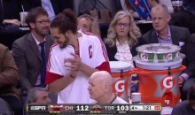 DeMar DeRozan Passes to Joakim Noah, Who Is On The Other Team's Bench (Video)