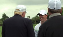Donald Trump Returns Rory McIlroy's Club From the Water at Doral (Video)