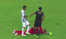 Ecuadoran Goalie Maximo Banguera Plays Dead to Avoid Red Card (Video)