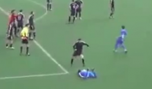 Greek Soccer Goal Leads to a Kick to the Head, Then a Brawl (Video)