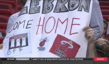 Miami Heat Fan Signs Beg For LeBron to Return (Pics + Video)