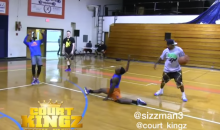 Hot Sauce Head Fake Causes Defender to Do the Splits, Audience Erupts (Video)