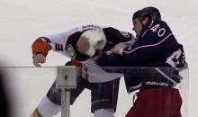 Jared Boll Uppercut Knocks Clayton Stoner to the Ice (Video)