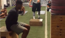 Jets Receiver Chris Owusu Gets Up REAL High on This Box Jump (Video)