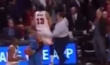 Excited Bulls Fan Celebrates With Joakim Noah Butt Slap (Video)