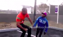 Little Guy Lands One Punch Knockout on Behemoth Dude in Fight (Video)