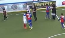 Player KO's Opponent With Headbutt After MASL Playoff Match (Video)