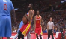 Matt Barnes Gets a Flagrant One for Tossing James Harden to the Ground (Video)