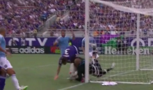 NYC FC Goalie Josh Saunders Smashes Head On Goal Post (Video)